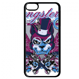 Coque gangster cat compatible ipod touch 6 bord noir