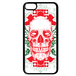 Coque floral skull 6 compatible ipod touch 6 bord noir
