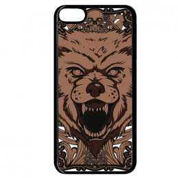 Coque giant wolf compatible ipod touch 6 bord noir