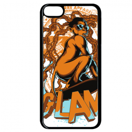 Coque glamour monkey compatible ipod touch 6 bord noir