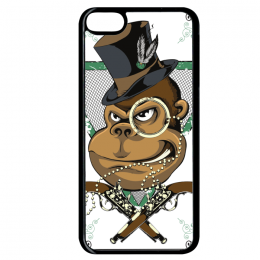 Coque gangster compatible ipod touch 6 bord noir