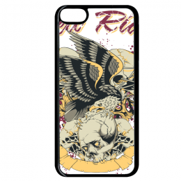 Coque hell rider compatible ipod touch 6 bord noir