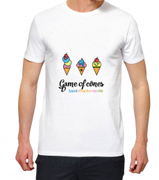 T-shirt blanc manche courte game of cnes