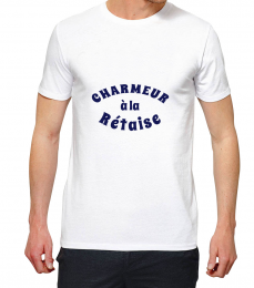 T-shirt blanc manche courte charmeur a la re taise copie