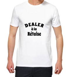T-shirt blanc manche courte dealer a la re taise