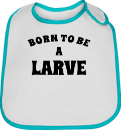 Bavoir bebe bleu born to be a larve